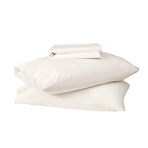 Sweave Eucalyptus Tencel & Egyptian Cotton Sand Colored Fitted Sheet Set, King Size, Luxury Bedding, Insanely Soft, Comfortably Cool Bed Sheets, Percale, Anti-Wrinkle, Hypoallergenic, Eco-Friendly.