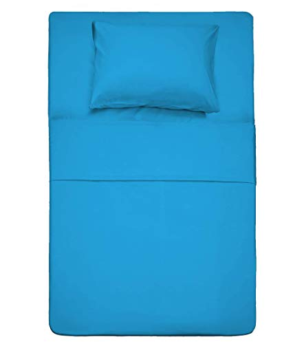 Best Season 3 Piece Bed Sheet Set (Twin,Dark Teal 1 Flat Sheet,1 Fitted Sheet and 1 Pillow Cases,100% Brushed Microfiber 1800 Luxury Bedding,Deep Pockets,Extra Soft & Fade Resistant
