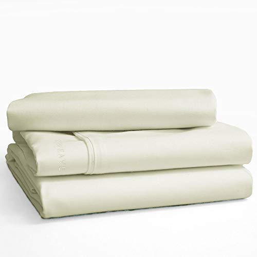 Sweave Eucalyptus Tencel & Egyptian Cotton Core Sheet Set, Luxury Bedding, Insanely Soft, Comfortably Cool Bed Sheets, Percale, Anti-Wrinkle, Hypoallergenic, Eco-Friendly.