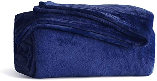 Fleece Blanket King Size Navy Lightweight Super Soft Cozy Luxury Bed Blanket Microfiber