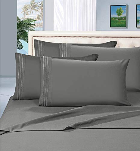 MattRest Hotel Luxury Bed Sheets Set-ON SALE TODAY! On Amazon-Top Quality Softest Bedding 1500 Thread Count 100%!Deep Pocket,Wrinkle & Fade Resistant - QUEEN, Gray