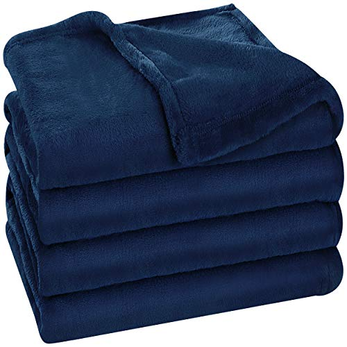 Utopia Bedding Fleece Blanket King Size Navy 300GSM Luxury Bed Blanket Fuzzy Soft Blanket Microfiber