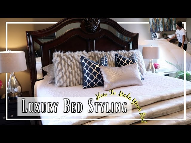 💙 HOW TO MAKE A LUXURY BED| STEP BY STEP | MASTER BEDROOM BEDDING 💙